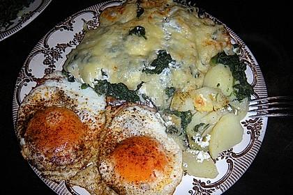 Kartoffel - Spinat - Auflauf 3