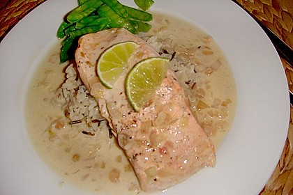 Pochierter Lachs in Sekt - Limetten - Sauce 3
