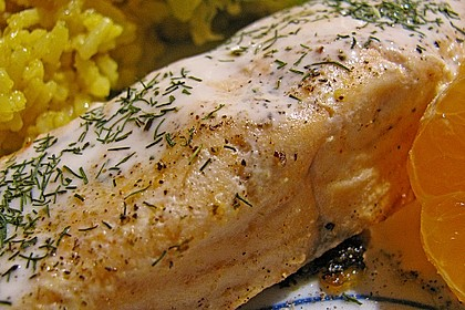 Pochierter Lachs in Sekt - Limetten - Sauce 1