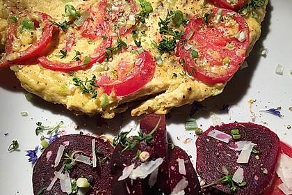 Bauernomelett mit Tomaten