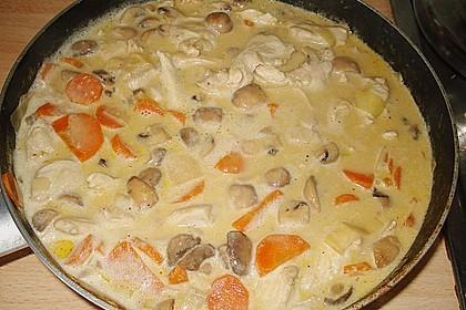 Hähnchengeschnetzeltes mit Champignons und Möhren