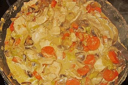Hähnchengeschnetzeltes mit Champignons und Möhren 3