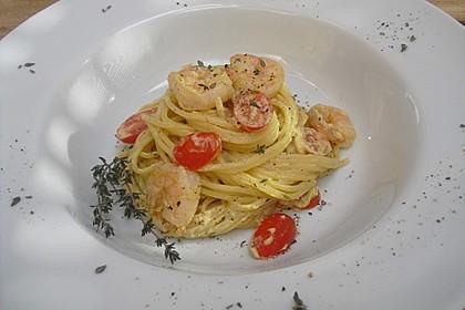 Spaghetti mit Garnelen 27