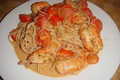 Spaghetti mit Garnelen 31