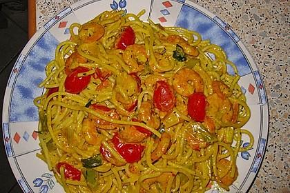 Spaghetti mit Garnelen 15