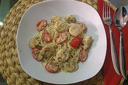 Spaghetti mit Garnelen 30