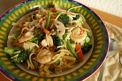 Spaghetti mit Garnelen 8