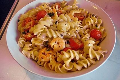 Spaghetti mit Garnelen 35