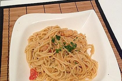 Spaghetti mit Garnelen 36