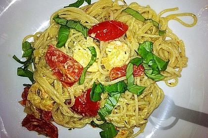 Spaghetti mit Garnelen 16