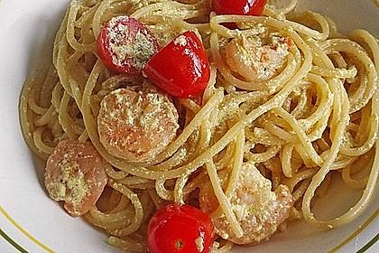 Spaghetti mit Garnelen 14