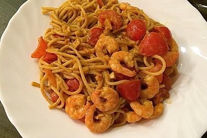 Spaghetti mit Garnelen 28