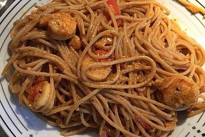 Spaghetti mit Garnelen 13