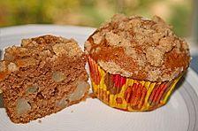 Birnen - Zimt - Muffins mit Streusel