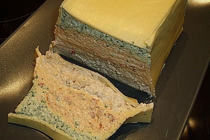 Dreifarbige Käse - Terrine