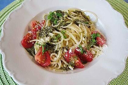 Spaghetti grün - rot