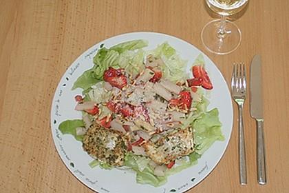 Spargel - Erdbeersalat mit Fischfilet 1