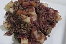 Kartoffel - Rotkohl - Pfanne