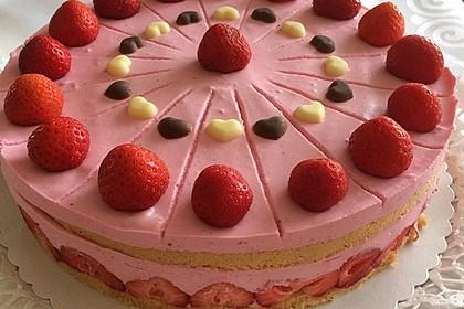 Erdbeer - Joghurt - Sahne - Torte 1