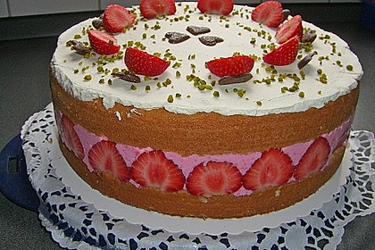 Erdbeer - Joghurt - Sahne - Torte 4