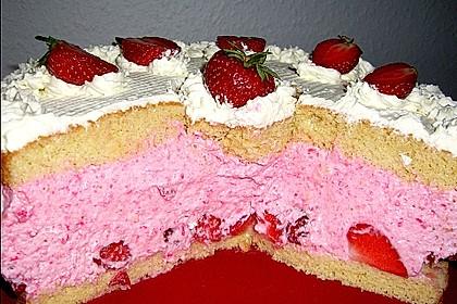 Erdbeer - Joghurt - Sahne - Torte 13