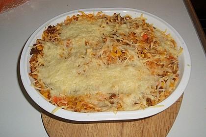 Spaghetti - Auflauf mit Gemüse - Bolognese 7