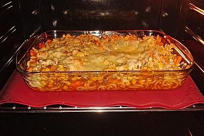 Spaghetti - Auflauf mit Gemüse - Bolognese 2