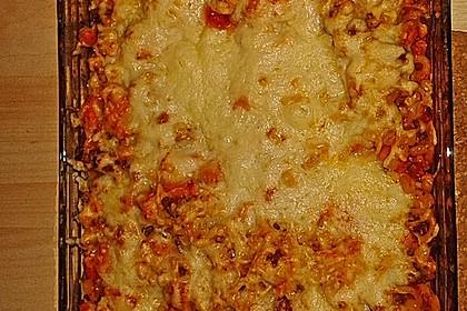 Spaghetti - Auflauf mit Gemüse - Bolognese 1