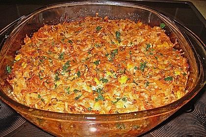 Spaghetti - Auflauf mit Gemüse - Bolognese 6