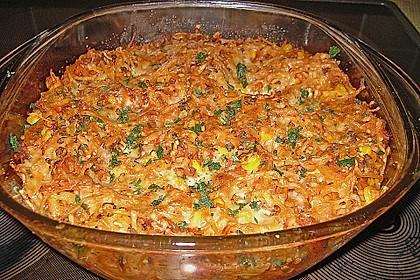 Spaghetti - Auflauf mit Gemüse - Bolognese 5