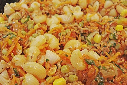 Spaghetti - Auflauf mit Gemüse - Bolognese 4