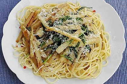 Spargel mit Limetten - Rucola - Pasta 4