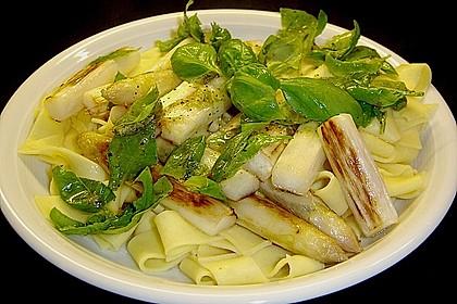 Spargel mit Limetten - Rucola - Pasta 1