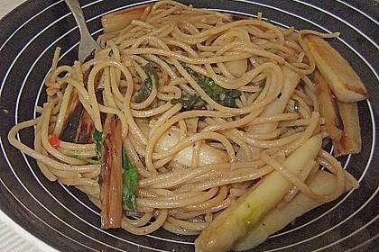 Spargel mit Limetten - Rucola - Pasta 16