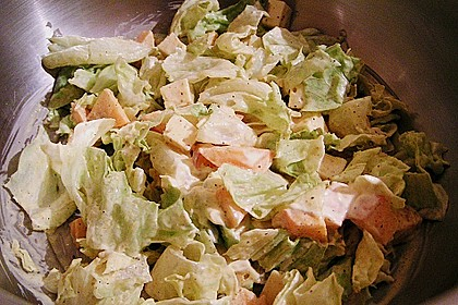 Eisbergsalat mit Curry - Dressing 7