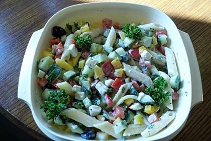 Penne - Salat mit Schafskäse