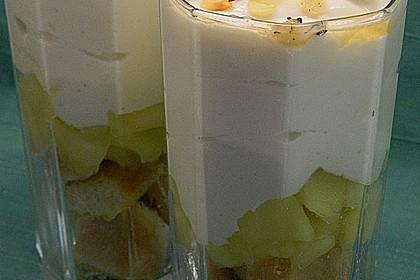Geschichtete Apfel - Marzipan - Creme 11