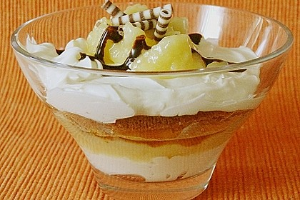 Geschichtete Apfel - Marzipan - Creme 1