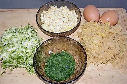Kartoffel - Zucchini Puffer 4