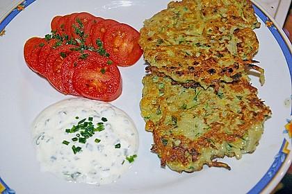 Kartoffel - Zucchini Puffer