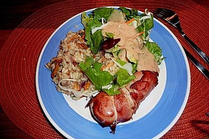 Hähnchenbrustfilet im Schwarzwälder Schinken gebacken auf Pfifferling-Risotto 16
