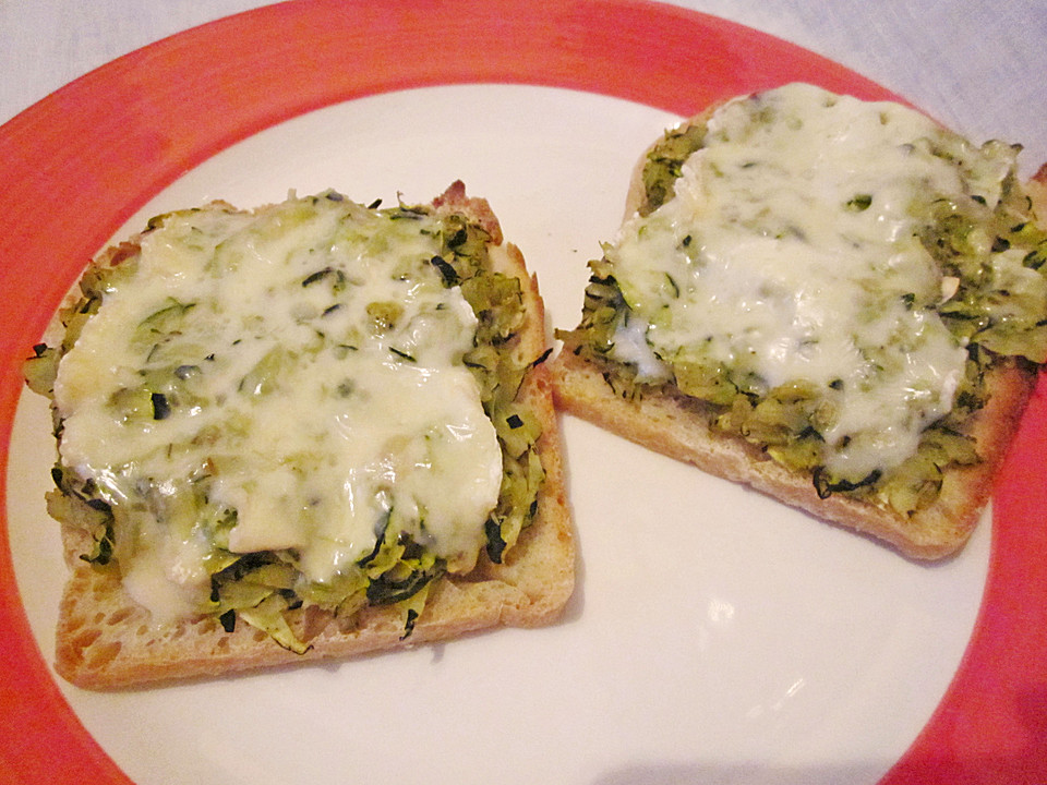 zucchini toast rezept mit bild von mamatuktuk. Black Bedroom Furniture Sets. Home Design Ideas