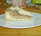 Schoko - Apfel - Nusskuchen mit feinen Streuseln (Bild)