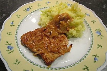 Kasseler in Honig - Senf - Sahne mit Wirsingkartoffeln 3