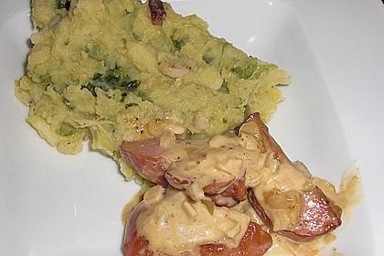 Kasseler in Honig - Senf - Sahne mit Wirsingkartoffeln 7