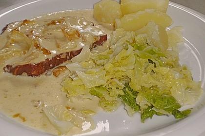 Kasseler in Honig - Senf - Sahne mit Wirsingkartoffeln 5
