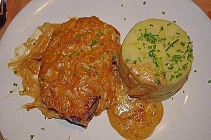 Kasseler in Honig - Senf - Sahne mit Wirsingkartoffeln 4