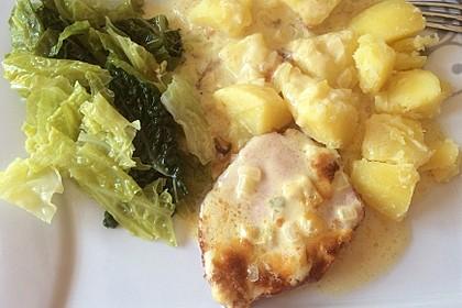 Kasseler in Honig - Senf - Sahne mit Wirsingkartoffeln 2