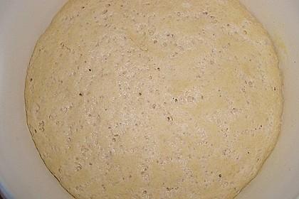 Knusprig dünne Pizza mit Chorizo und Mozzarella 48