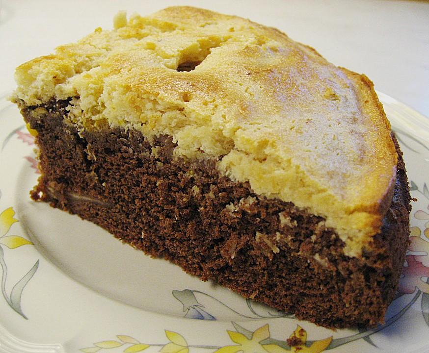 Schoko - Kuchen mit Mandarinen und Kokos - Schmandguss ...